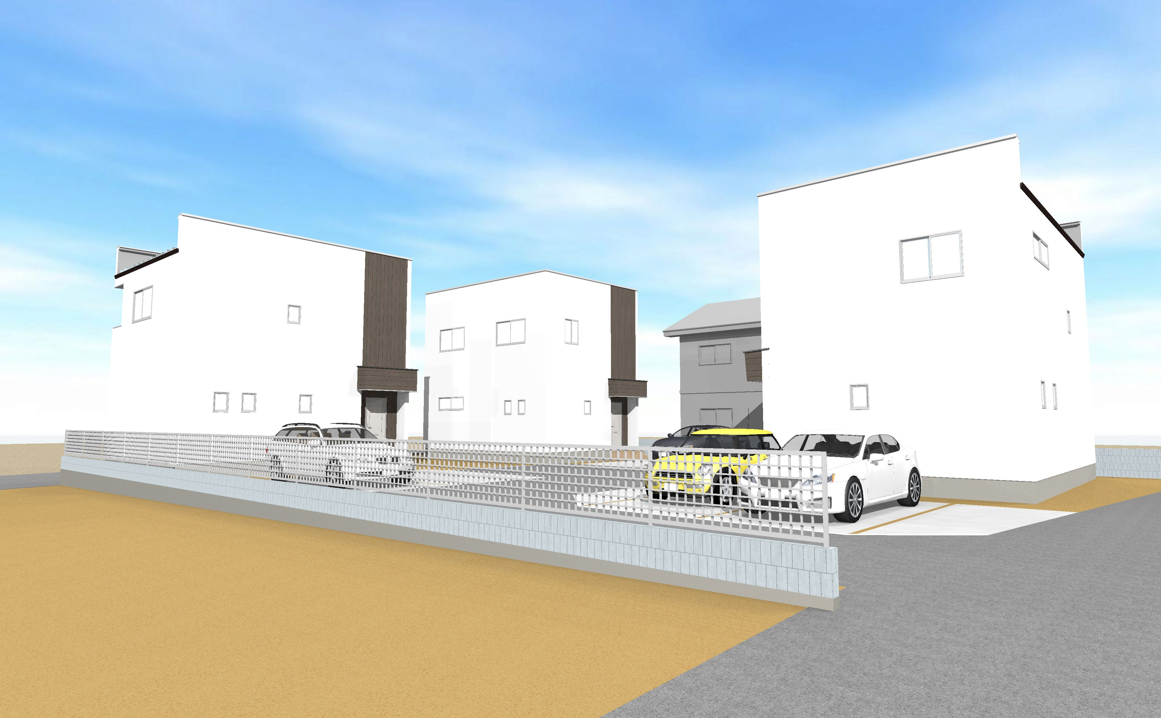 高崎駅から車で10分以内のデザイナーズ戸建賃貸住宅パルティータ
